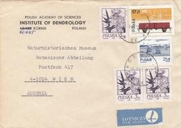 POLEN 197? - 5 Fach Frankierung Auf LP-Brief Gel.v.Polen > Wien - Briefe U. Dokumente