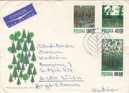 POLEN 197? - 4 Fach Frankierung Auf LP-Brief Gel.v.Polen > Wien - Briefe U. Dokumente