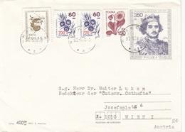 POLEN 1991? - 5 Fach Frankierung Auf Brief Gel.v.Polen > Wien - Briefe U. Dokumente