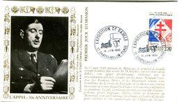 Thème Général De Gaulle - Bureau Temporaire Chatelaillon Plage Du 18 Juin 1990 - X 351 - De Gaulle (General)