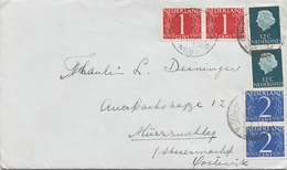 NEDERLAND - 6 Fach MIF Auf Brief Mit Inhalt Gel.v. Amsterdam > Mützzuschlag - 1949-1980 (Juliana)