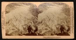 Stereoview Photographs / Stereoview Card / Upper Grindelwald Glacier / Switzerland / Jarfis Publisher / Washington D.C. - Visionneuses Stéréoscopiques