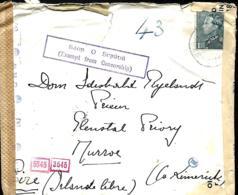 Belgique. TP 430  L.  Denée Abbaye De Maredsous > Eire Via Lisbonne Censure Allemagne, G.B. & Eire   1942 - Belgique