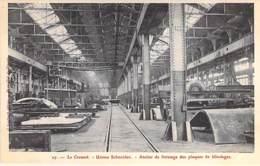 INDUSTRIE - 71 LE CREUSOT - USINES SCHNEIDER N° 17 : Atelier De Finissage Des Plaques De Blindage - CPA - Usine - Industrie
