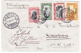 1914 Brief Aus Bulgarien Nach Bruggen Weitergeleitet Nach St. Gallen - Cartas