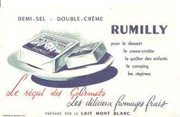 Buvard RUMILLY Le Régal Des Gourmets Les Délicieux Fromages Frais - Produits Laitiers