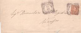 Montecassino. 1895. Annullo Tondo Riquadrato  MONTECASSINO (CASERTA), Su Lettera Affrancata Completa Di Testo - 1878-00 Umberto I