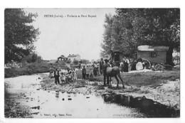 FEURS  (cpa 42) Tuilerie Et Pont Bayard - Campement De Gens Du Voyage -TBE - # RARE #  -  L 1 - Feurs