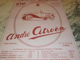 ANCIENNE PUBLICITE VOITURE 10 HP DE ANDRE CITROEN 1919 - Cars