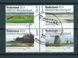 2014 Netherlands Blok Unesco Werelderfgoed Used/gebruikt/oblitere - Oblitérés