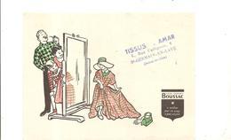 Buvard Tissu Boussac Buvard Offert Par TISSUS AMAR 6, Rue Collignon à Saint Germain En Laye - Textile & Clothing
