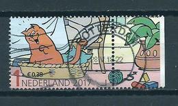 2017 Netherlands Child Welfare,kinderzegel Jan Jans,comics+tab Used/gebruikt/oblitere - Periode 2013-... (Willem-Alexander)
