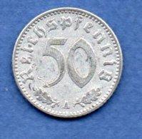 Allemande -- 50 Reichspfennig  1941 A  -  Km # 96 -  état  TTB - [ 4] 1933-1945 : Third Reich