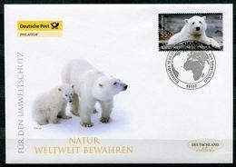 """Germany 2008 First Day Cover Mi.Nr.2656 FDC""""Umweltschutz,Natur Weltweit Bewahren,Eisbär Knut""""1 FDC - Umweltschutz Und Klima"""