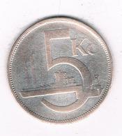5 KORUN 1928 TSJECHOSLOWAKIJE /6572/ - Czechoslovakia