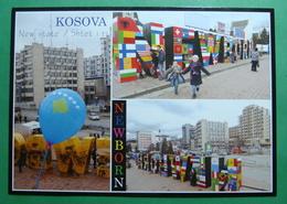 Capital City PRISTINA, Multiiew, Newborn, Kosovo (Serbia) New Postcards. - Kosovo