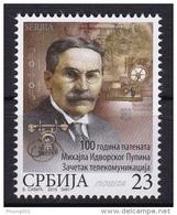 Serbia 2015 Michael Pupin, Telecommunications, Telephone, Science, MNH - Serbia