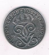 2 ORE  1943  ZWEDEN /6580/ - Suède