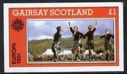 Gairsay 1981 EUROPA (Scottish Dancers) Imperf Souv Sheet (?1 Value) U/m DANCING SCOTS SCOTLAND - Local Issues