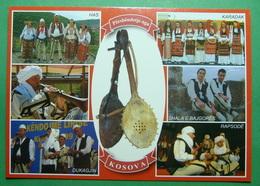 KOSOVO Musical Instrument LUTES, Folklor, Kosovo (Serbia) New Postcards. - Kosovo