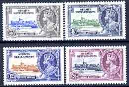 Malaya - Straits Settlements 1935 KG5 Silver Jubilee Set Of 4, Mounted Mint SG 256-9 CASTLES - Malaysia (1964-...)