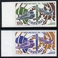 Mali 1974 Europafrique (Electric Train & Boeing 707) AVIATION RAILWAYS Imperf From Limited Printing U/m, As SG 470-71* - Mali (1959-...)