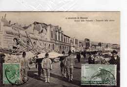 AK Messina - Cartolina La Catastrofe Di Messina - Avanzi Della Palazzata - Trasporto Vittime    -rare !!! - Italia