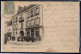 NOGENT LE ROTROU - HOTEL DU DAUPHIN - CAFE DE PARIS - ANIMATION - DOS 1900 - Nogent Le Rotrou