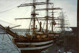 Nave Scuola Amerigo Vespucci Ormeggiata Nel Porto Di Genova E Scorcio Del Porto N. 10 Fotografie - Barche