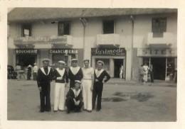 4 PHOTOS MARINE NATIONALE - HOURTIN - BIARRITZ INDOCHINE - Regiments