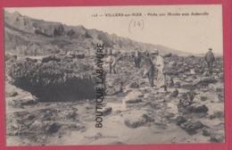 14 -  VILLERS SUR MER--Peche Aux Moules Sous Auberville---animé - Villers Sur Mer