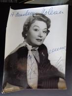 GRANDE PHOTO AVEC DEDICACE A IDENTIFIER ( HARCOURT PARIS ) - Autographs
