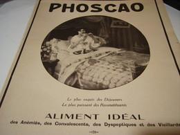 ANCIENNE PUBLICITE CHOCOLAT PHOSCAO 1917 - Affiches
