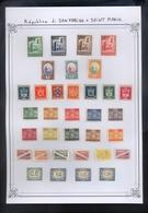 SAINT MARIN - TIMBRES - MONTAGE ANCIEN COLLECTIONNEUR Sur Page D'ALBUM. - Collections, Lots & Séries
