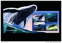 AUSTRALIA - 2006  WWF WHALES MS  MINT NH - Blocchi & Foglietti