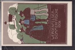 Künstlerpostkarte Fritz Klee Werdenfelser Sommerfrische 1908 - Illustratori & Fotografie