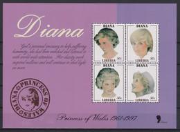 2344 - Princesse DIANA Princess Of Wales1961 / 1997 - LIBERIA . - Royalties, Royals