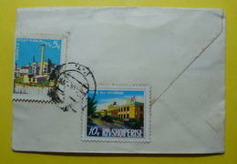 1976 ALBANIA Letter Send From DURRES To SHIJAK, Stamp: INDUSTRY 5 And 10q, Seal: Durres And Tirana, RARE - Albania