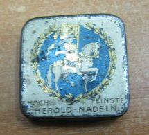 AC - HEROLD NADELN PHONOGRAPH GRAMOPHONE NEEDLE VINTAGE TIN BOX - Accessories & Sleeves