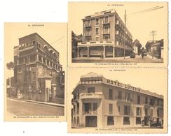 D06 . 3 X CPA . ANTIBES - JUAN Les PINS . Hotels Lutetia - Des Iles - Du Pin Dore . - Antibes