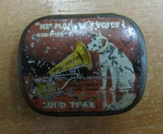 AC - HIS MASTERS VOICE COPYRIGHT LOUD TONE PHONOGRAPH GRAMOPHONE NEEDLE VINTAGE TIN BOX DOG & BABY ILLUSTRATED - Accessoires, Pochettes & Cartons