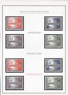 CONGO - YVERT N° 520/523 TYPE I + TYPE II * (SURCHARGE INVERSEE)  Sur FEUILLE MOC - République Du Congo (1960-64)