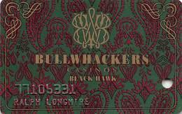 Bullwhackers Casino Black Hawk, CO Slot Card - PPC Manufacturer Mark - Casino Cards