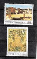 "Cipro  - 1985. I Due Francobolli "" Archeologia "". Città Romana  Palaestra E Mosaico. Alto Valore Del Set .High Value MNH - Archeologia"