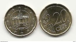 20 Cent, 2018,  Prägestätte (A),  Vz, Sehr Gut Erhaltene Umlaufmünzen - Deutschland