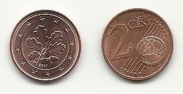 2 Cent, 2017, Prägestätte (F) Vz, Sehr Gut Erhaltene Umlaufmünze - Deutschland