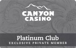 Canyon Casino - Black Hawk CO - BLANK Platinum Club Slot Card - Casino Cards