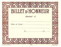 Billet D'Honneur, élève De L'école ... - Diplômes & Bulletins Scolaires