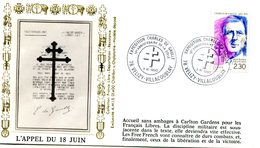 Thème Général De Gaulle - Bureau Temporaire Velizy Villacoublay Du 3 Novembre 1990 - X 379 - De Gaulle (General)