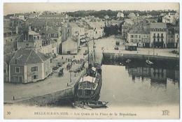 Belle Ile En Mer Les Quais Et La Place De La Republique - Belle Ile En Mer